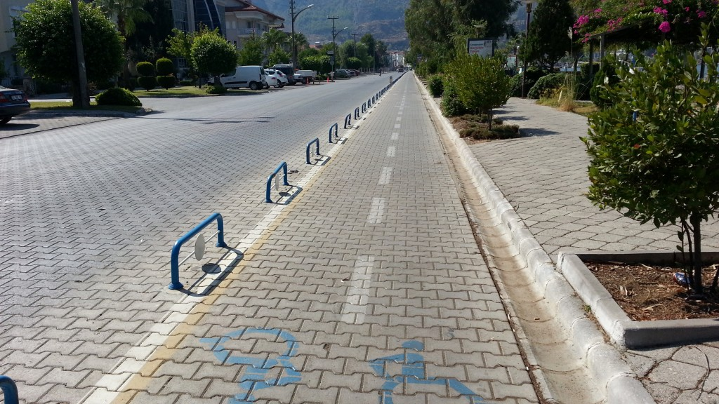 Disabled lane road, Fethiye, Turkey