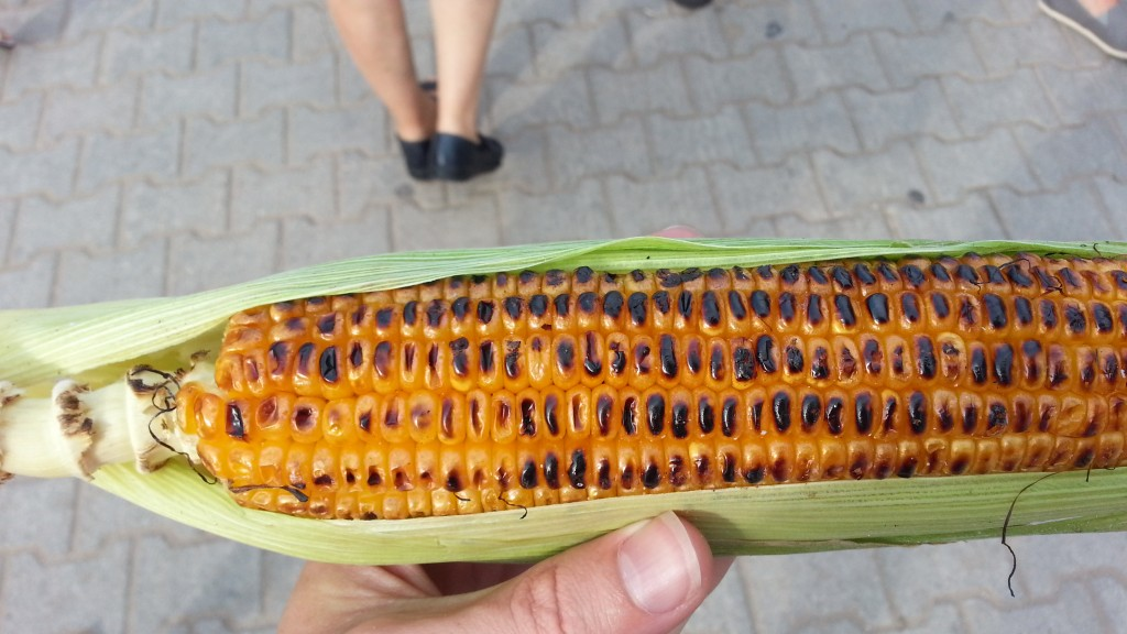 Grilled sweetcorn, Oludeniz, Turkey