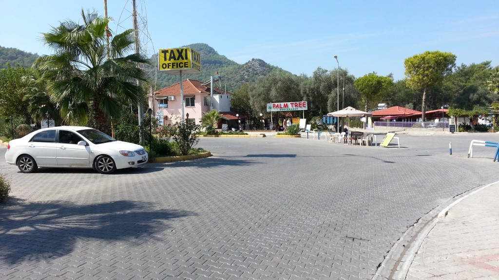 Taxi Office roundabout, Hisaronu, Turkey