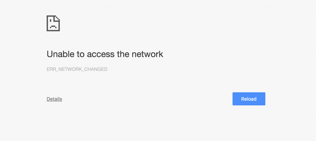 Unable to access the network