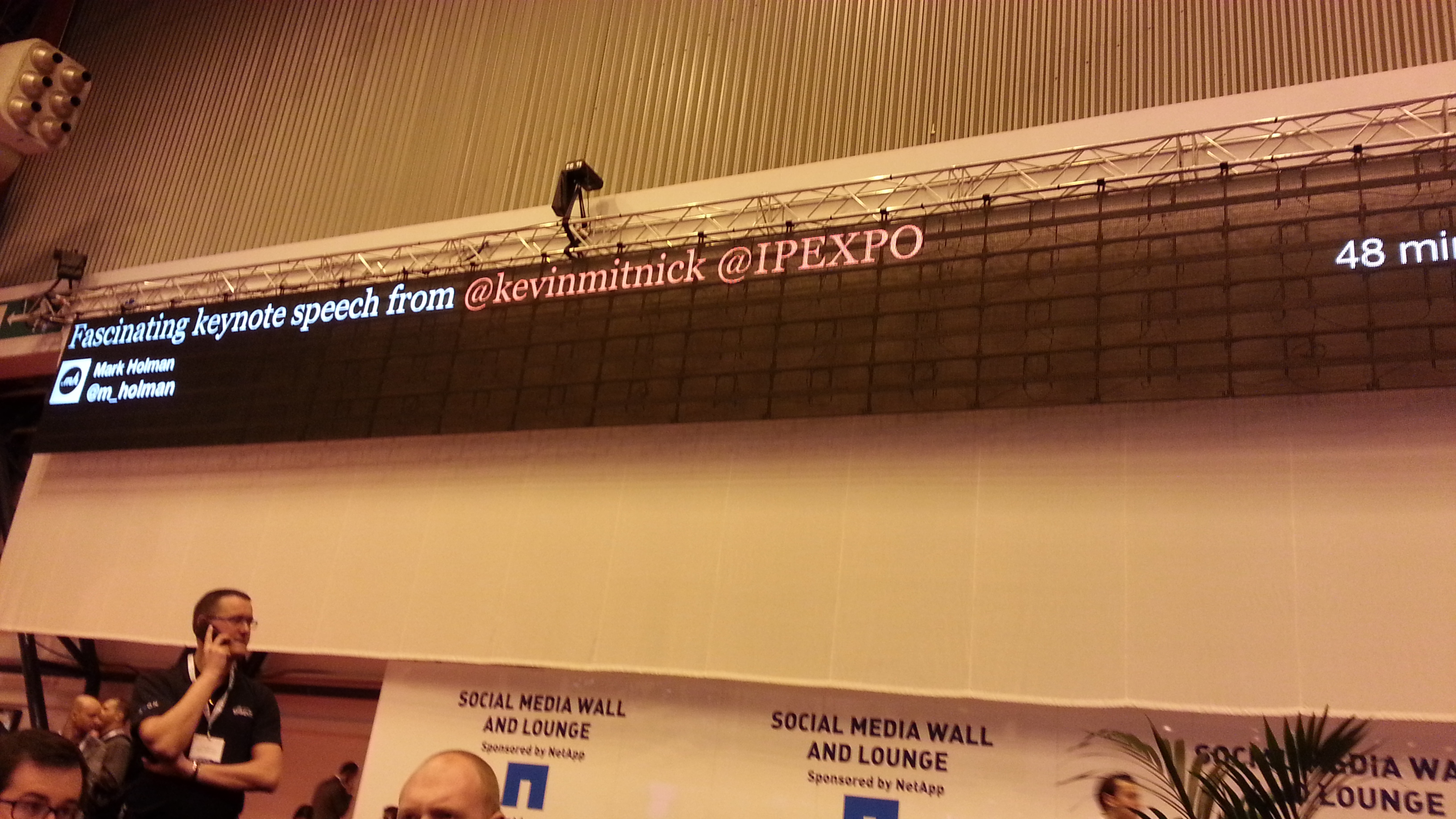 IP EXPO 2013 London twitter wall