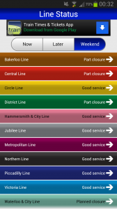 Tube map london line status android