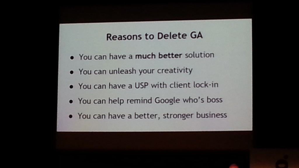 Reasons to Delete Google Analytics - BrightonSEO April 2014