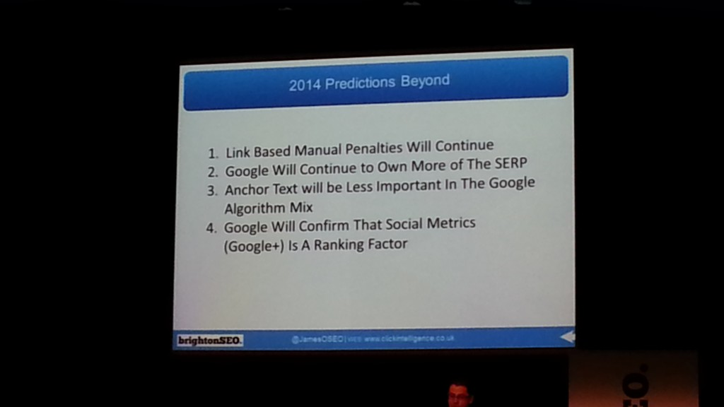 James Owen - Predictions - BrightonSEO April 2014