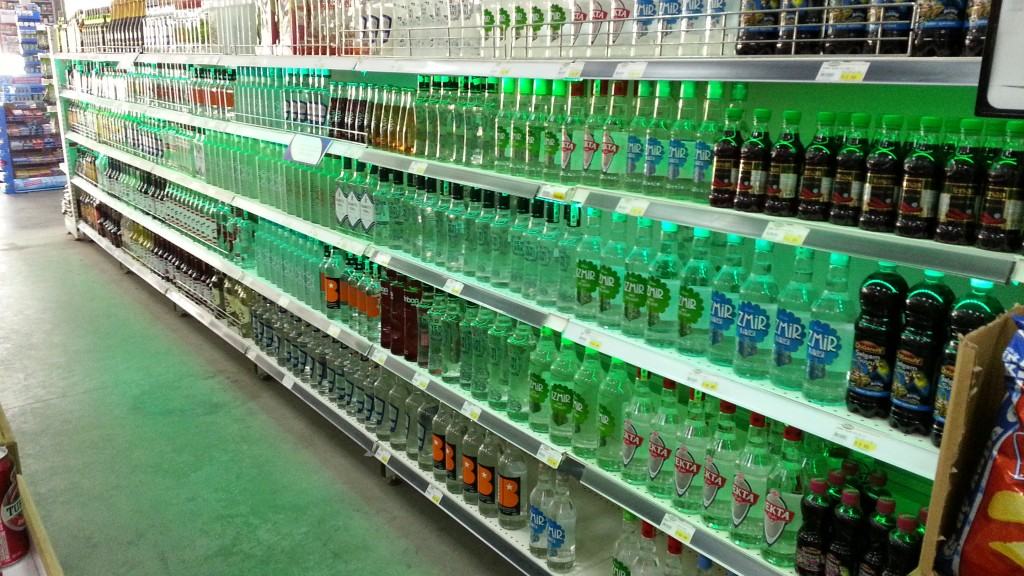 AZDA vodka aisle, Turkey