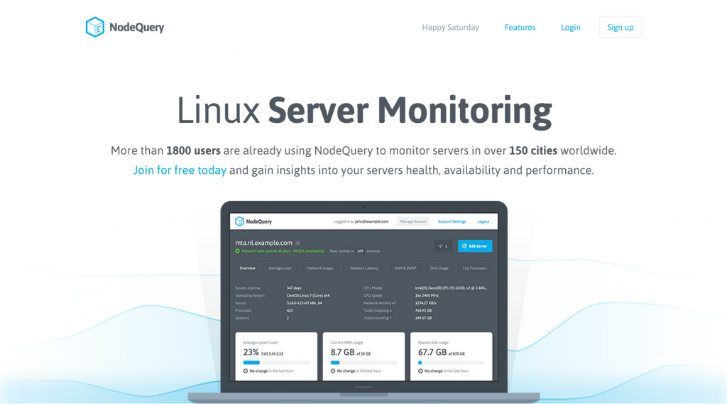NodeQuery Linux Server Monitoring